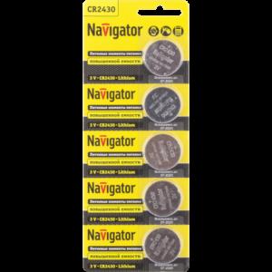 Диски литиевые Navigator